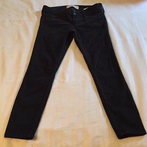 Velvet Hollister Crop jeans 🖤 used once